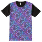 Poolside Kaleidoscope - Beautiful Cool Mosaic All-Over-Print T-Shirt