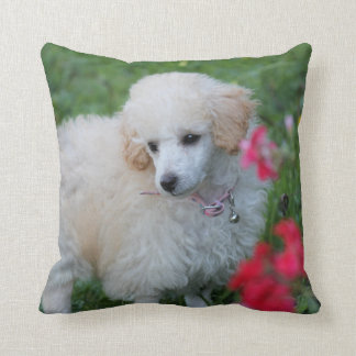 Pooodle dog Easter throw pillow