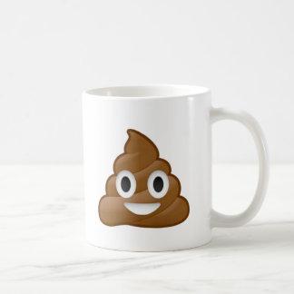 Poop emoji basic white mug