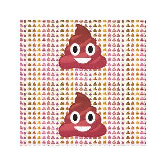 poop Emoji Canvas Print