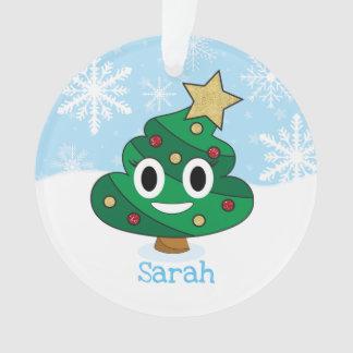 Poop Emoji Christmas Tree Emoji Ornament