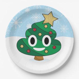 Poop Emoji Christmas Tree Emoji Party Plates
