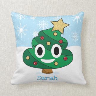 Poop Emoji Christmas Tree Emoji Pillow