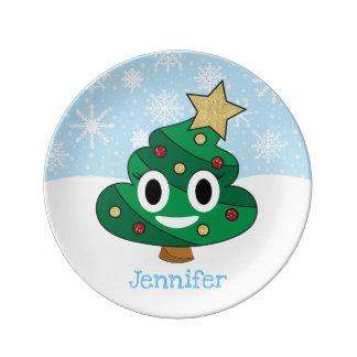 Poop Emoji Christmas Tree Emoji Porcelain Plate