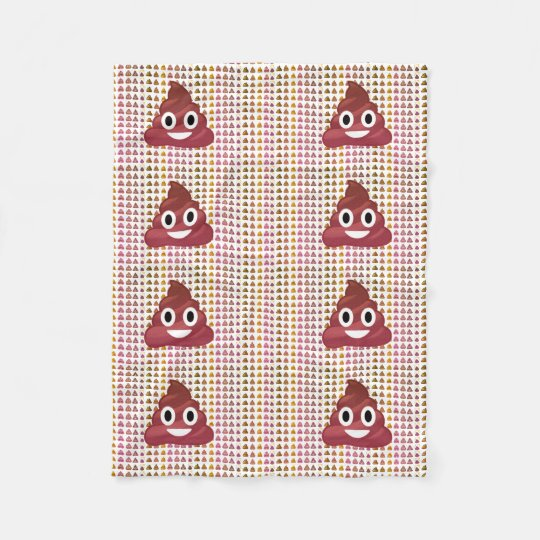 Poop emoji fleece blanket