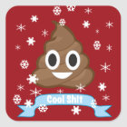 Poop Emoji Funny Christmas sticker