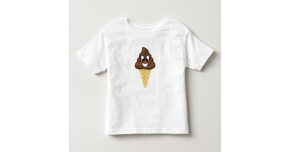 Poop Emoji Ice Cream Cone T Shirt Zazzleca