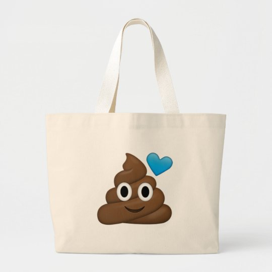 Poop Emoji Large Tote Bag