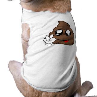 Poop Emoji Peace Sign Hands Pet Clothing