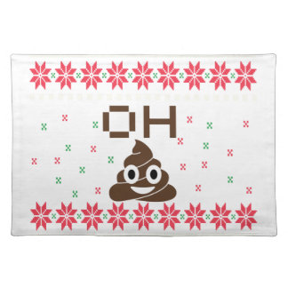 Poop emoji placemat