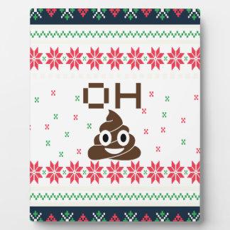 Poop emoji plaque