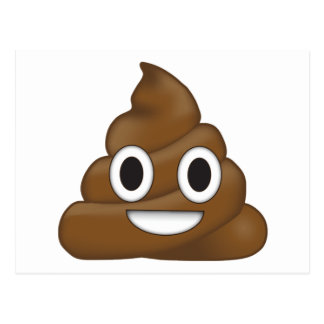 Poop Emoji Postcard