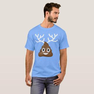Poop Emoji with Antlers T-Shirt