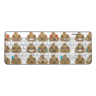 poop emojis wireless keyboard