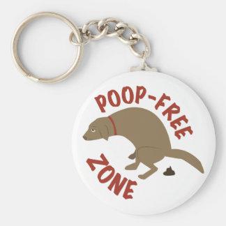 Poop-Free Zone Basic Round Button Keychain