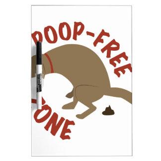 Poop-Free Zone Dry-Erase Board