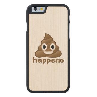 Poop Happens Emoji Carved Maple iPhone 6 Case