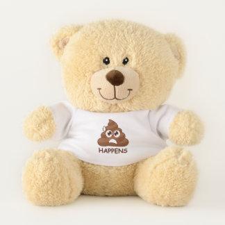 Poop Happens Emoji Teddy Bear