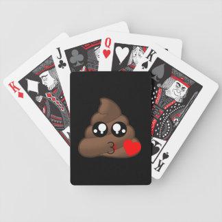 Poop Heart Love Emoji Bicycle Playing Cards