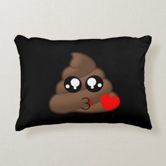 Poop Heart Love Emoji Decorative Pillow