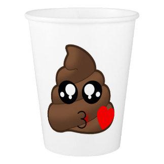 Poop Heart Love Emoji Paper Cup
