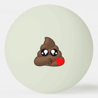 Poop Heart Love Emoji Ping Pong Ball