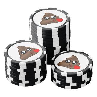 Poop Heart Love Emoji Poker Chips