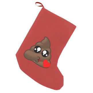 Poop Heart Love Emoji Small Christmas Stocking