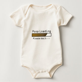 Poop Loading Please Wait Baby Bodysuit