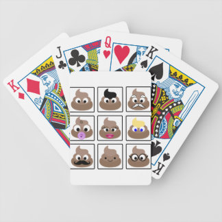 Poop Many Faces Bicycle Playing Cards