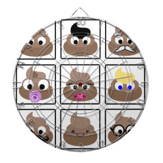 Poop Many Faces Dartboard