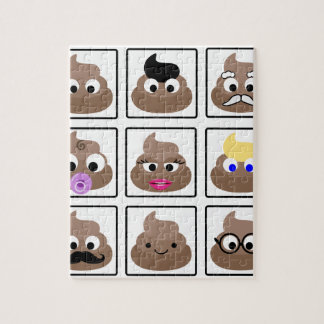 Poop Many Faces Jigsaw Puzzle