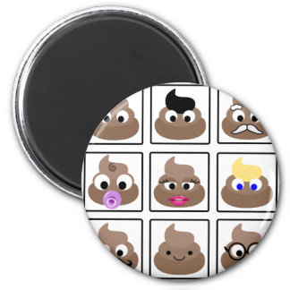 Poop Many Faces Magnet