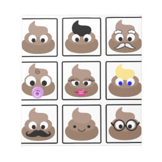 Poop Many Faces Notepad