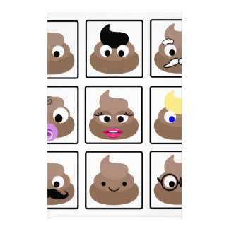 Poop Many Faces Stationery