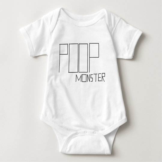 poop monster baby bodysuit