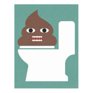 Poop Monster Postcard