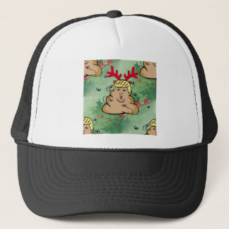 poop reindeer donald trump trucker hat