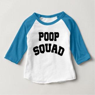 Poop Squad Baby Raglan Shirt