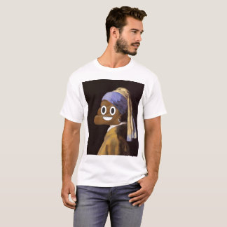 Poop with Pearl Earring T-Shirt