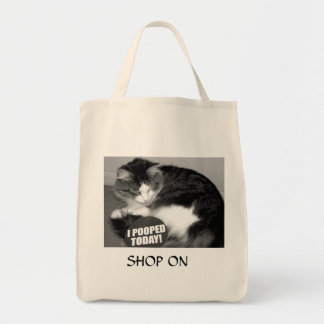 Pooped shopping tote