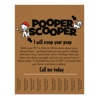 Pooper Scooper business tear sheet flyer
