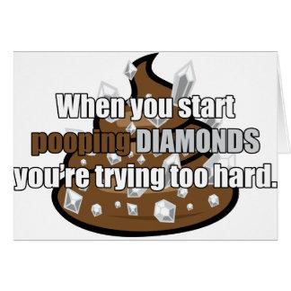 Pooping Diamonds Card
