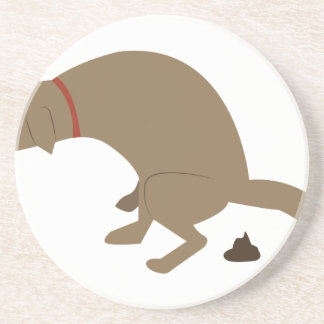 Pooping Dog Beverage Coaster