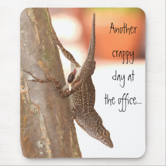Pooping Lizard Mouse Pad