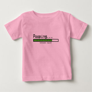Pooping... Please wait Baby T-Shirt
