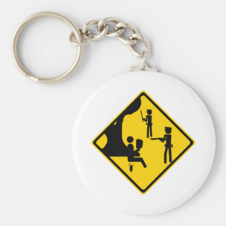 Poopman By Tree Basic Round Button Keychain
