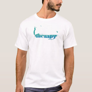 poopy therapy hang 10 t-shirt