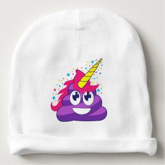 Poopy Unicorn Emoji Baby Beanie