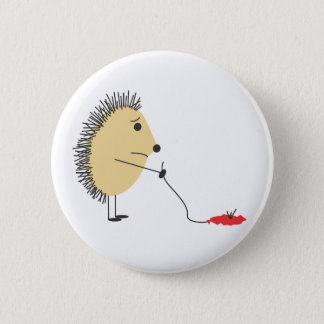 Poor Little Hedgehog 2 Inch Round Button